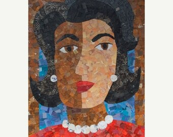 50% OFF SALE - African American Woman ART Inspired by Michelle Obama
