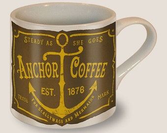 Anchor Coffee Mug by Trixie & Milo - Vintage - Father's Day/Mother's Day/Fantastic Gift