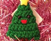 Happy Little Christmas Tree Ornament - Solid Green