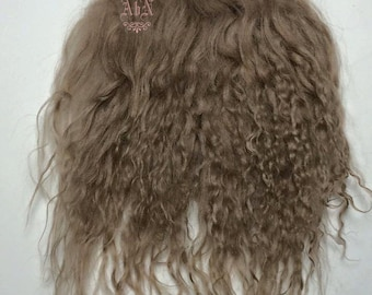Tibetan Lamb Hair - Blonde - S piece BL - For Art Dolls OOAK