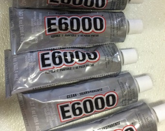 3.7 oz  -  E6000 - Jewelry BAIL Glue - Clear ADHESIVE Jumbo tube (3.7 oz) 110 ml - Industrial strength Glue, Sealant and Self Leveling