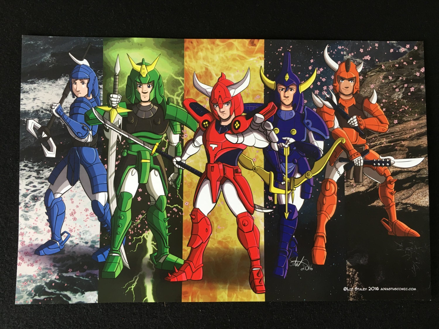 Ronin warriors and dark warlords poster set samurai by - Ronin warriors warlords ...