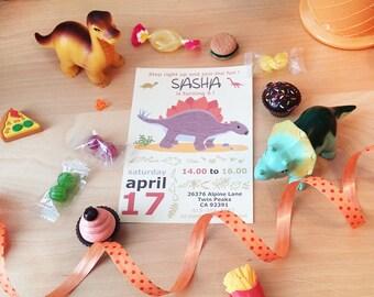 Anniversaire de fichier numérique dinosaure invitation-garçon de fête d'anniversaire - fête imprimable