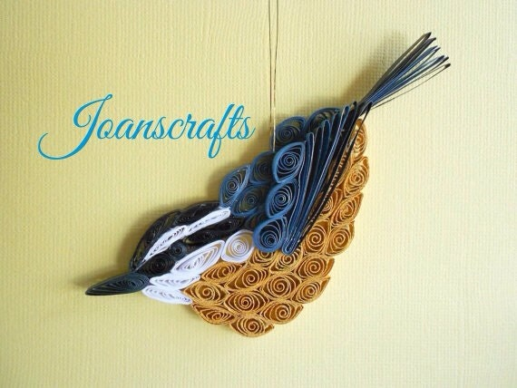 Red-Breasted Nuthatch Ornament design in Quilling