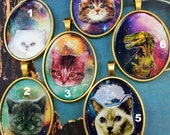 Large GALAXY KITTY Necklace Choose Your KItty