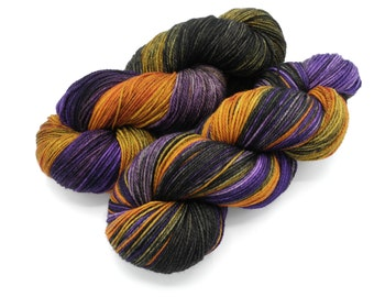 The Witch's Brew Hand Dyed Yarn, Dyed to Order on a variety of bases including sock yarn, worsted, super bulky yarn, dk yarn, sport yarn