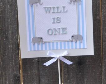 Boy Elephant Sign Centerpiece- 1st Birthday