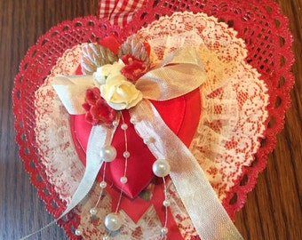Heart Valentines vintage style