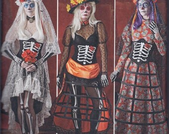 Simplicity 1033 Misses Day of the Dead Steampunk Cos Play Costume UNCUT Sewing Pattern