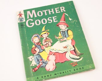 Tip Top Elf Book Mother Goose Rand McNally Nursery Rhymes ~ The Pink Room ~ 170209