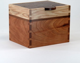 Keepsake Box, Knotty Walnut, Hickory,Knotty Cherry, Wavy Maple Hardwoods