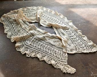 Antique Needlework Lace Collar