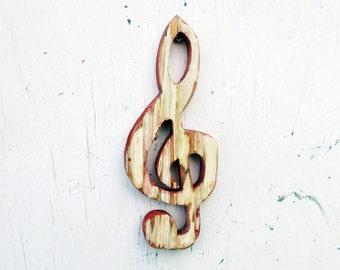 G Clef Wall Decor, Musical Decor, Reclaimed Wood Art, Rustic Wood Wall Art, Treble Clef Wall Art, Musician Gift, Music Teacher Gift