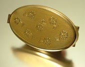 Reserved for Pernille - Vintage, estate 1950s/ 60s signed Kigu, British, gold plated, flower, lip stich holder and mirror