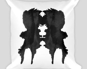 Inkblot Throw Pillow Rorschach Test 18x18 #1