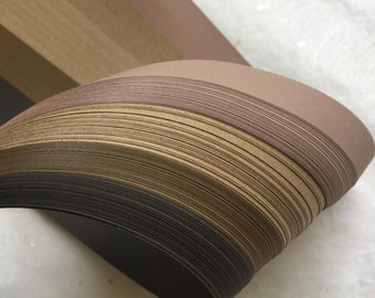 "3/8""  Weaving Paper Strips~ Brown Shades (100 strips)"