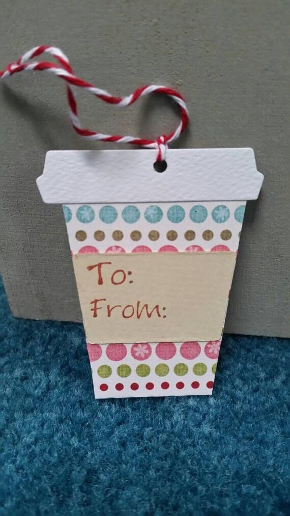 Christmas Coffee Gift Tags Set of 12