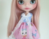 Pretty Kitty dress for Blythe, Pullip doll