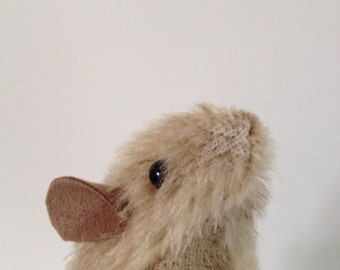life size raggyrat mouse softie plush toy vintage mohair