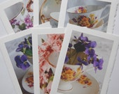 Teacup Photo Cards, Blank Note Card Set, Greeting Cards, All Occasion Cards, Mother's Day, Flower Photos,  Frameable Print, Photo Note Cards