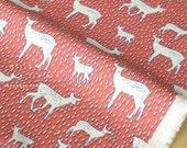 Japanese Fabric Kokka Nordic Line Deer - red - 50cm