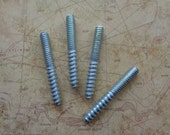 "Package of Four 1/4"" - 20 Threaded Hanger Bolts/Studs for Furniture Feet"