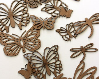 Butterfly and Dragonfly Silhouette Cutouts for Lantern Jars - 16 pieces