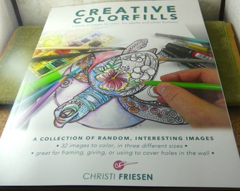 COLORING BOOK  Adult  Christi Friesen Creative ColorFills Coloring Design