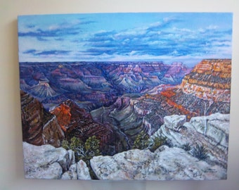 Grand Canyon South Rim Evening oil painting 16 x 20