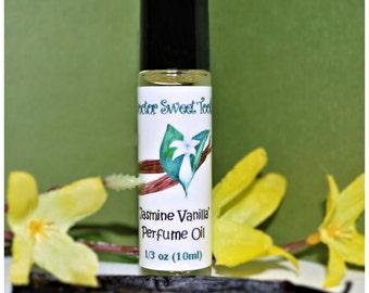Jasmine Vanilla Perfume Oil Roll-On .33oz