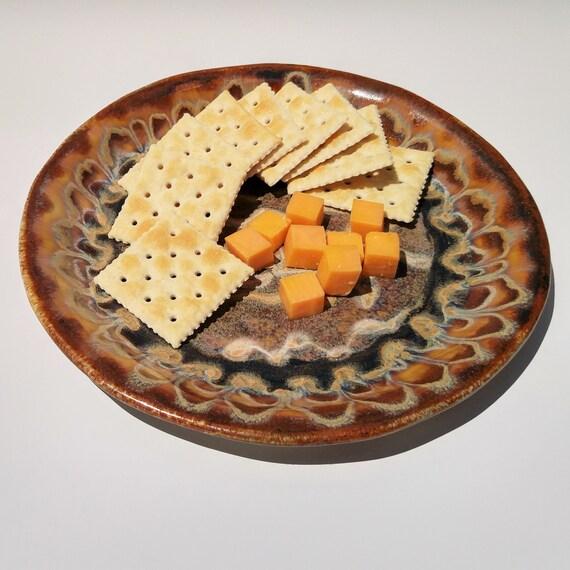 Ceramic Plate - Handmade - Pottery - Appetizer Plate - Snack Plate - Luncheon Plate - Pottery Dish - Ceramic Dish - Stoneware