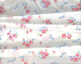 Vintage Sheer Floral Print Fabric 4+ yards
