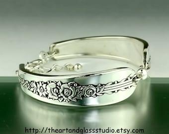 Silver Spoon Bracelet ROYAL ROSE Jewelry Vintage, Silverware, Gift, Anniversary, Wedding, Birthday