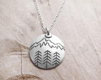 Mountain Necklace, pendant