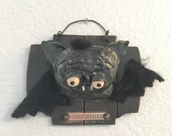 The Bat faux taxidermy original art