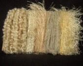 Ivory Cream Yarn Scraps Weaving Knitting Quilting 1217