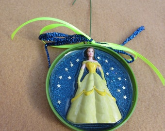 Belle of the Ball   Upcycled Doll Pendant