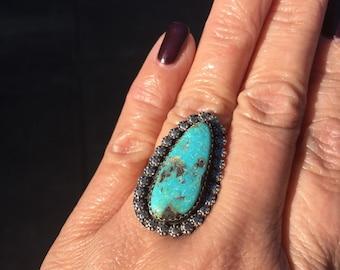 JUMA Jewelry - Kingman Teardrop  Turquoise  Ring - From My Bench