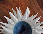Denim Blue Micro Urchin Bowl - Small Ceramic Bowl Ceramic Sculpture