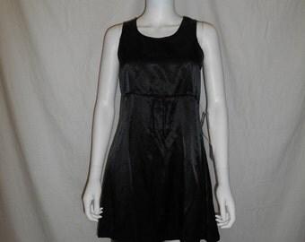 SALE 90s Black Minimalist Dress, Vintage 90s Short Dress, Size Small Dress