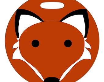 Luggage Tag - Foxy - 2.5 inch or 4 Inch Round Plastic Bag Tag