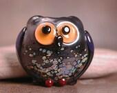 Artisan Glass Owl Bead Animal Spirit Totem Divine Spark Designs SRA