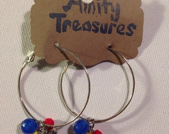 football hoop earrings