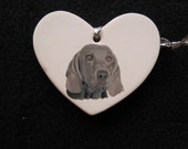 Beloved Pet Portrait Memorial Christmas Ornament Hand Painted and Made to Order by Pigatopia