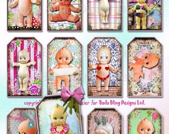 Kewpie,  gift tags,  INSTANT Digital Download at Checkout, printable gift tags, kewpies, vintage dolls, kewpie dolls