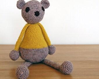 Knitted Teddy Bear, Handmade Teddy Bear, Baby Gift, Baby Shower Gift, Unisex Newborn Gift, Unisex Baby Gift, Toddler Gift