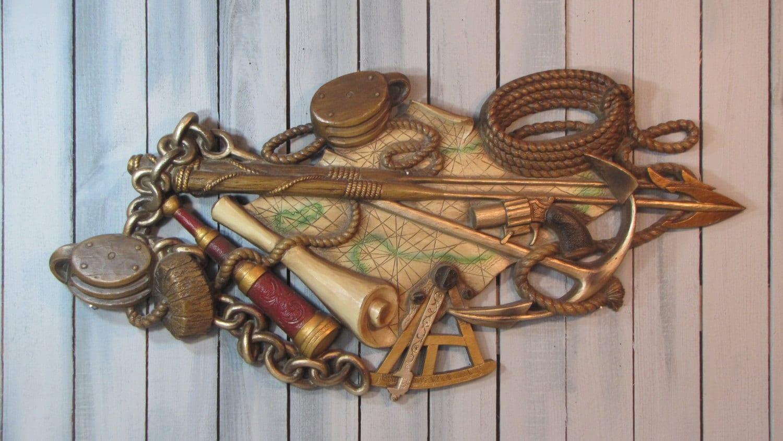 Burwood Nautical Plaque Wall Decor Vintage 1970 Shipping