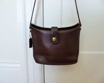 Vintage COACH Leather Brown Handbag Purse