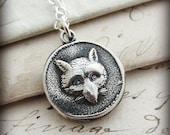 Fox Necklace- Wax Seal Jewelry - Fox Wax Seal Necklace - Silver Fox Necklace E2395