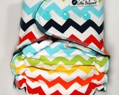 AI2 Cloth Diaper Made to Order - Multi Chevron - You Pick Size and Style - Custom Cloth Nappy Diaper - Cloth Diapers - Rainbow Diaper